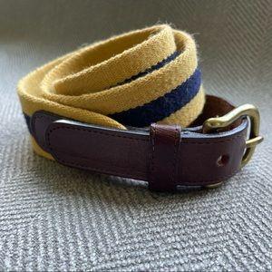 Coach Blue/Yellow Brass & Leather Belt